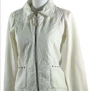 Piece of Blue Womens Jacket White Blue Willis Sm